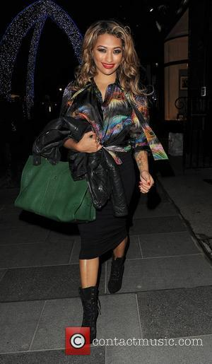 Vanessa White from girl group 'The Saturdays' leaves the opening of new store 'Supertrash'. London, England - 21.11.12