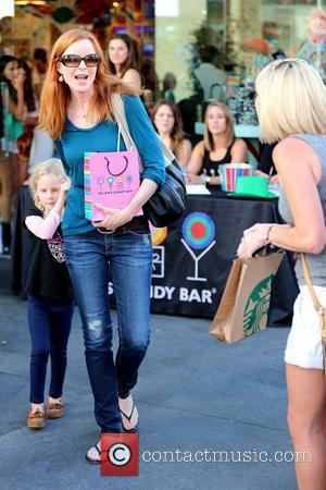 Marcia Cross and her daughter Eden Mahoney Celebrities out and about at The Grove Los Angeles, California - 08.09.12