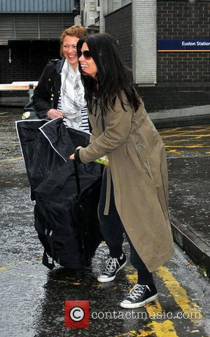 Alison King arrives at Euston Station to attend The British Soap Awards London, England - 28.04.12