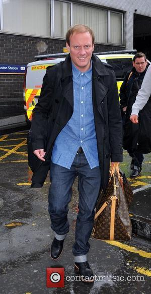 Antony Cotton arrives at Euston Station to attend The British Soap Awards London, England - 28.04.12