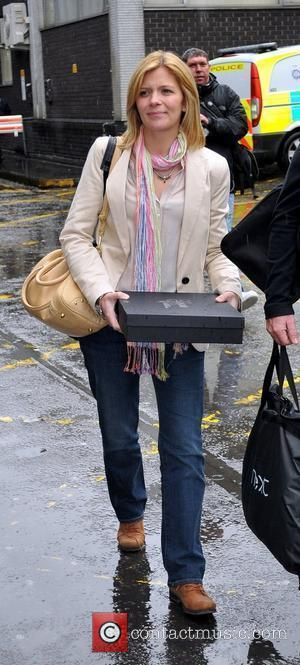 Jane Danson arrives at Euston Station to attend The British Soap Awards London, England - 28.04.12
