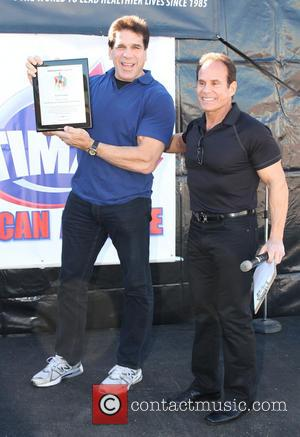 Lou Ferrigno and Mike Torchia Shape Up America Operation Fitness Health & Fitness Expo at the Vitamin Shop in Westwood...