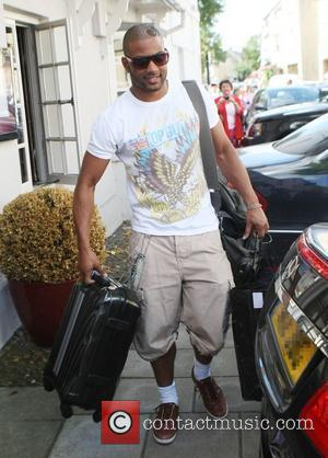 Jonathan 'JB' Gill of JLS leaving his hotel after attending the wedding of Rochelle Wiseman and Marvin Humes on Friday...