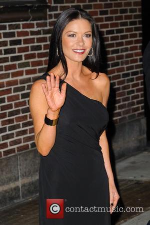 Catherine Zeta-Jones Celebrities at the Ed Sullivan Theater for 'The Late Show with David Letterman'  Featuring: Catherine Zeta-Jones Where:...