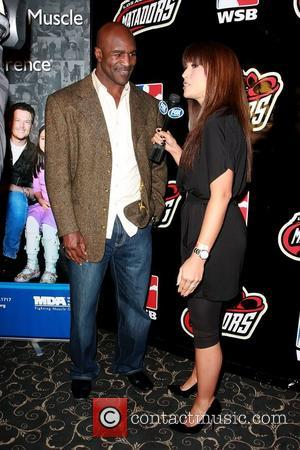 Evander Holyfield Celebrities at The Music Box for The L.A. Matadors vs. The Moscow Dynamo 'The Cold War' fight night...