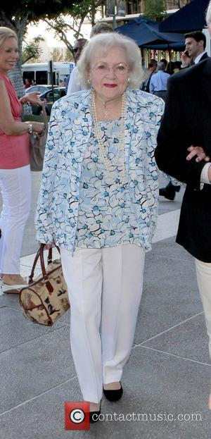 Betty White arriving to watch a play Los Angeles, California - 12.08.12