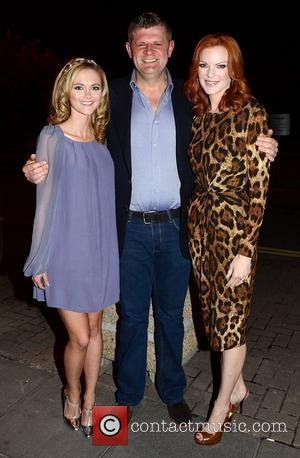 Jayne Wisener, Brendan O'Connor and Marcia Cross  Celebrities outside the RTE studios for 'The Saturday Night Show'  Dublin,...