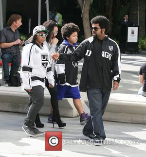 Ice Cube arriving at the Staples Center for game six LA Kings vs. New Jersey Devils for the Stanley Cup...