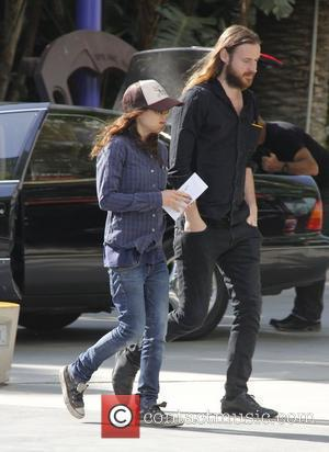 Ellen Page with a male companion arriving at the Staples Center for game six LA Kings vs. New Jersey Devils...