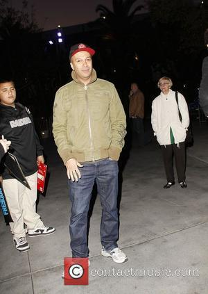 Tom Morello arriving at the Staples Center for the Los Angeles Clippers v Boston Celtics basketball game  Los Angeles,...