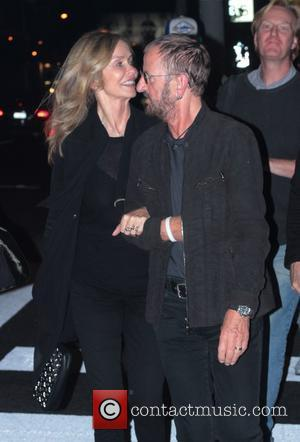 Barbara Bach and Ringo Starr leaving The Viper Room after a performance by James McCartney Los Angeles, California, USA -...