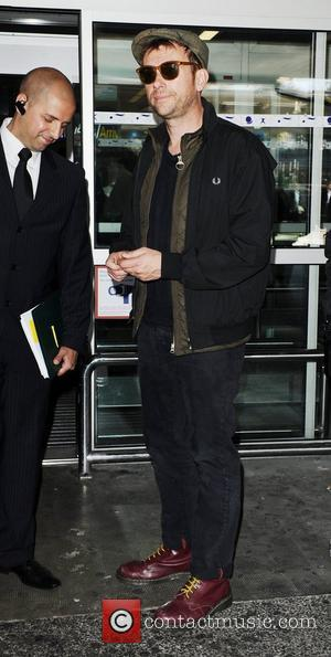 Damon Albarn  Celebrities arrive at Nice Airport for the Cannes Film Festival  Nice, France - 16.05.12