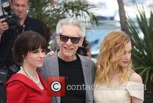 Emily Hampshire, David Cronenberg and Sarah Gadon 'Cosmopolis' photocall during the 65th annual Cannes Film Festival Cannes, France - 25.05.12