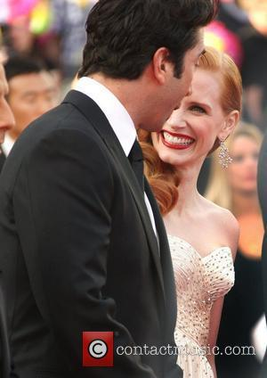 David Schwimmer and Jessica Chastain 'Madagascar 3: Europe's Most Wanted' premiere- during the 65th Cannes Film Festival Cannes, France -...