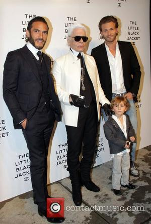 Karl Lagerfeld and guests Chanel's, The Little Black Jacket Event at the Swiss Institute - arrivals New York City, USA...
