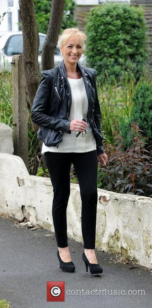 Chantelle Houghton's mother arriving at Chantelle Houghton and Alex Reid's house, after the recent birth of their baby daughter....