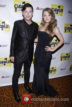 Malan Breton and Guest attending the Broadway opening night after party for 'Chaplin The Musical', held at Gotham Hall New...