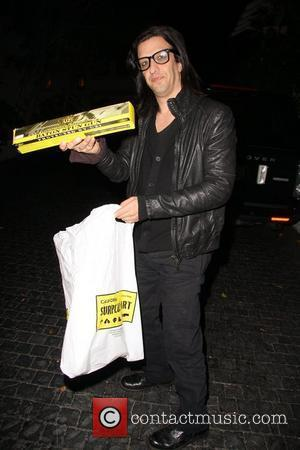 Jeordie White aka Twiggy Ramirez departs the Chateau Marmont Los Angeles, California - 05.01.12