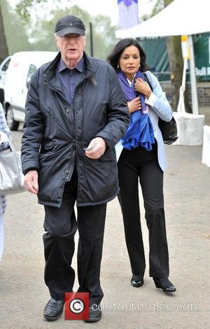 Sir Michael Caine and wife Shakira Caine Chelsea Flower Show Press Day - Outside Arrivals London, England - 21.05.12