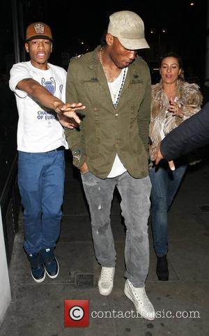 Didier Drogba joins some of his Chelsea FC team mates for a night out at Boujis nightclub in Kensington following...