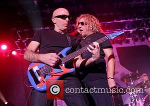 Joe Satriani and Sammy Hagar Chickenfoot performing at Manchester Academy Manchester, England - 12.01.12