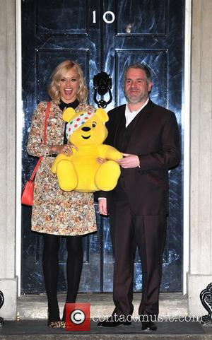 Chris Moyles and Fearne Cotton Children In Need - drinks reception held at 10 Downing Street - Arrivals. London, England...