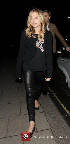 Chloe Grace Moretz arriving at her hotel. London, England - 10.05.12