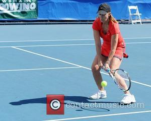 Chris Evert  participates in the Chris Evert / Raymond James Pro- Celebrity Tennis Classic at the Delray Tennis Center...