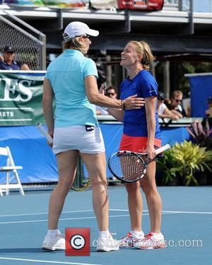 Martina Navratalova and Elizabeth Shue