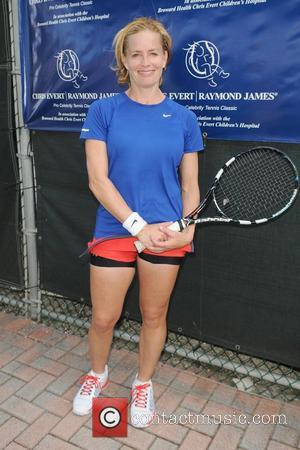 Elisabeth Shue participates in the Chris Evert / Raymond James Pro- Celebrity Tennis Classic at the Delray Tennis Center in...