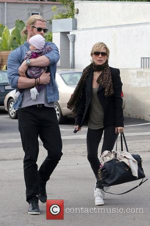 Chris Hemsworth, India Rose Hemsworth and Elsa Pataky