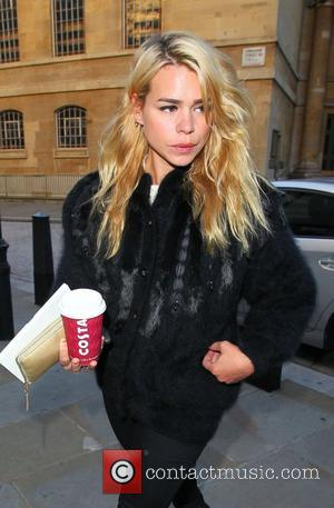Billie Piper outside the BBC Broadcasting House & Radio Theatre for the Chris Moyles Breakfast Show London, England - 13.09.12