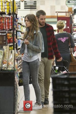 Chris Pine and new girlfriend Dominique Piek go late night shopping together for groceries at Gelsons supermarket Los Angeles, California...
