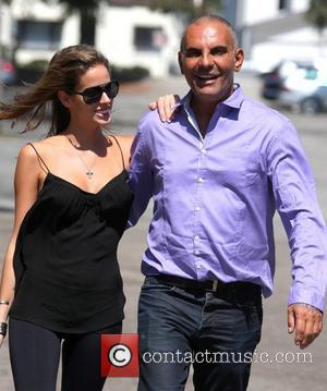 Christian Audigier  with girlfriend Nathalie Sorensen out and about in Los Angeles Los Angeles, California - 18.09.12