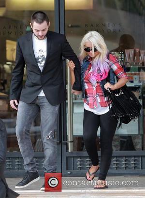Christina Aguilera seen with boyfriend Matthew Rutler exiting Barneys New York in Beverly Hills.  Los Angeles, California - 09.10.12...