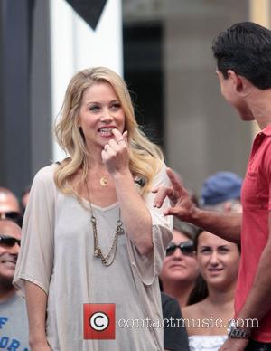 Christina Applegate visits 'Extra' at The Grove promoting her line of children's clothes. Los Angeles, California - 23.08.12