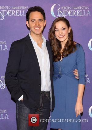 Santino Fontana and Laura Osnes Press day for the Rodgers + Hammerstein's broadway play , 'Cinderella', held at Gibney Dance...