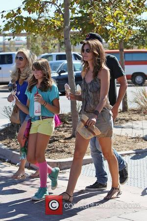 Cindy Crawford daughter Kaia Jordan Gerber eating an ice cream at the 31st Annual Malibu Kiwanis Chili Cook-Off  Malibu,...