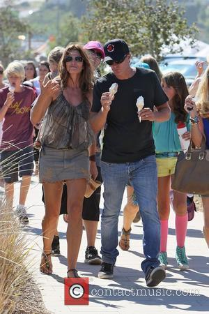 Cindy Crawford eating an ice cream with husband Rande Gerber at the 31st Annual Malibu Kiwanis Chili Cook-Off  Malibu,...