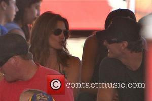 Cindy Crawford with husband Rande Gerber watch their daughter Kaia Jordan Gerber perform on stage at the 31st Annual Malibu...