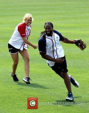 Lauren Alaina, Michael Griffin The 22nd Annual City of Hope Celebrity Softball Challenge at Greer Stadium Nashville, Tennessee - 09.06.12