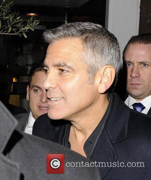 George Clooney leaving Claridges Hotel London, England - 12.02.12