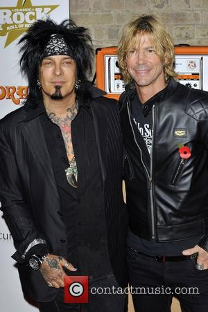 Nikki Sixx & Duff McKagan,  at the Classic Rock Roll of Honour at The Roundhouse. London, England - 13.11.12