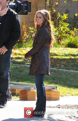 Jennifer Love Hewitt Celebrities laugh it up on the set of 'The Client List'  Featuring: Jennifer Love Hewitt Where:...