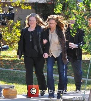 Jennifer Love Hewitt; Rebecca Field Celebrities laugh it up on the set of 'The Client List'  Featuring: Jennifer Love...