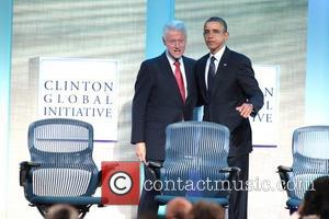 Former President Bill Clinton, President Barack Obama Global Initiative Annual Meeting held at the Sheraton Hotel New York City, USA...