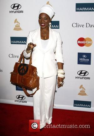 India Arie Clive Davis and The Recording Academy's 2012 Pre-Grammy Gala held at Beverly Hilton Hotel - Arrivals Beverly Hills,...