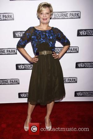 Martha Plimpton from the TV show 'Raising Hope', wearing Cynthia Rowley  Broadway opening night of 'Clybourne Park' at the...