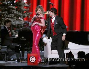 Jennifer Nettles performing at the 2012CMA Country Christmas at Bridgestone Arena in Nashville Tennessee, USA - 03.11.12