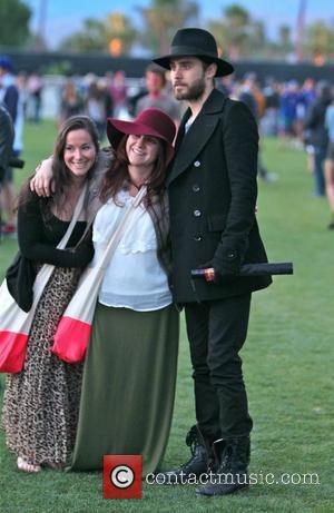 Jared Leto Celebrities at the 2012 Coachella Valley Music and Arts Festival - Week 1 Day 1 Indio, California -...